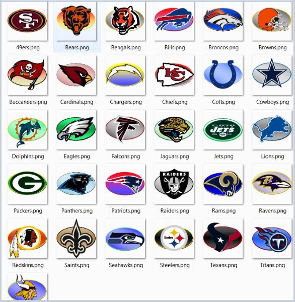 Zeppelin NFL Logos
