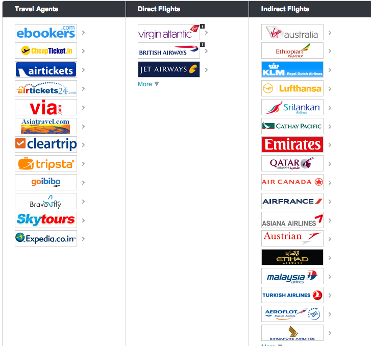 Vendors and partners Skyscanner