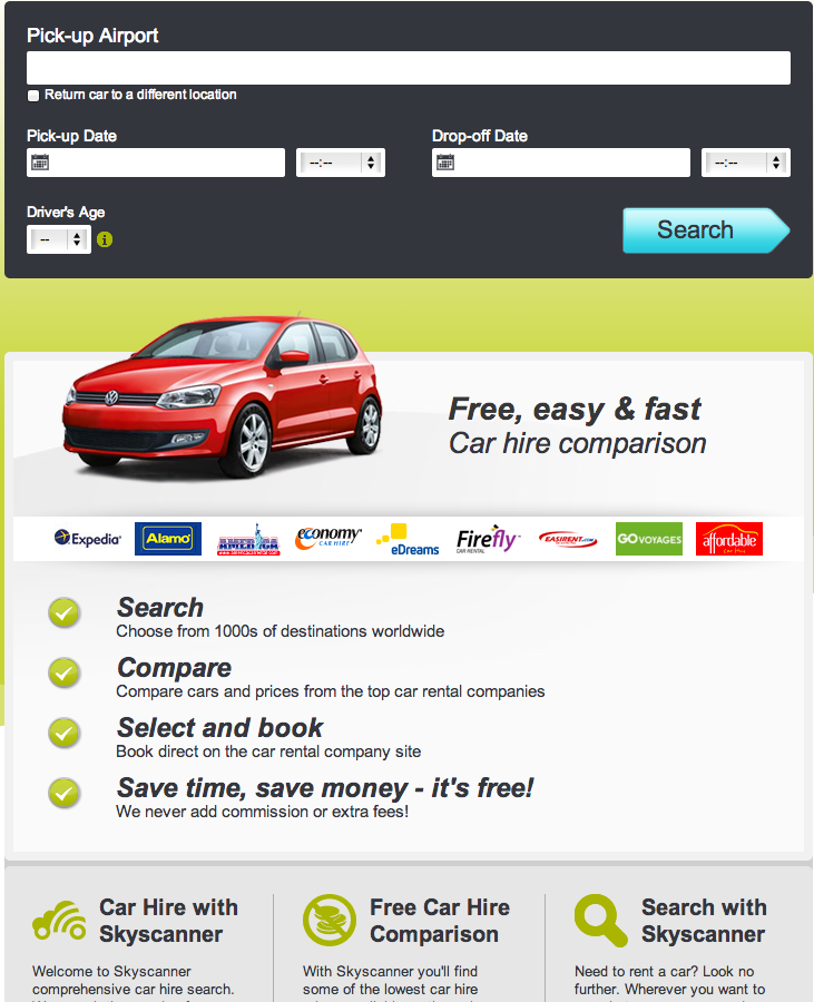 Car Hire Skyscanner