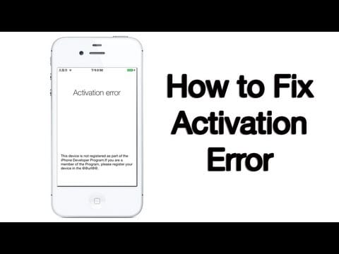 activation error iphone 4 how to fix iphone activation errors the unbiased 13354