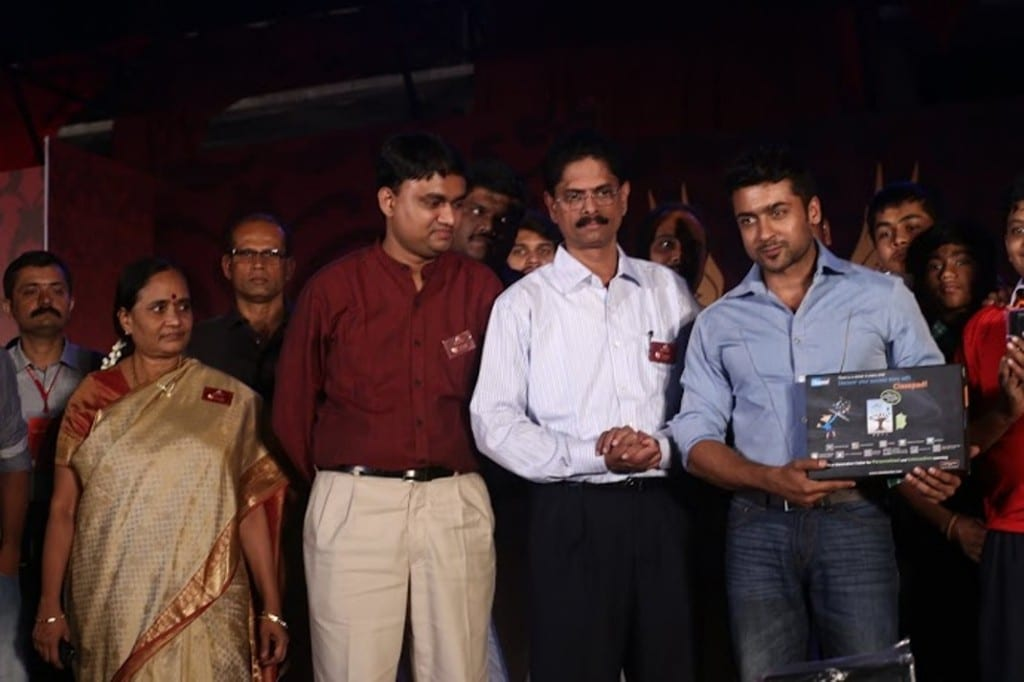 Actor Suriya Unveiling ClassPad Tablet at the Event