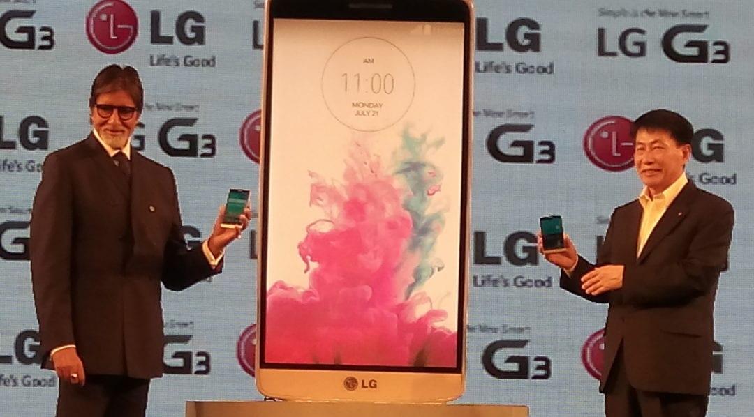 Amitabh Bachchan launching LG G3
