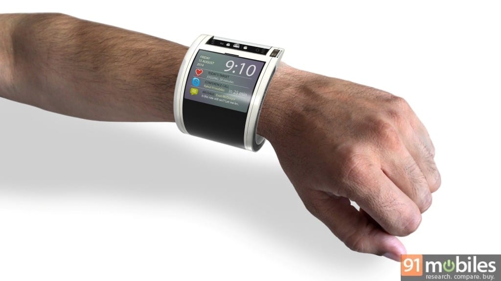 Google Nexus 360 on wrist