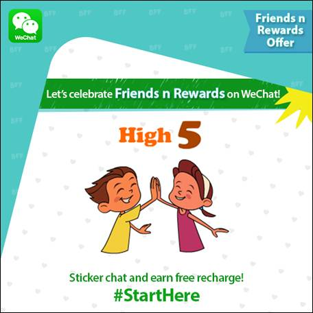 Send Stickers on WeChat And Get Free Recharge