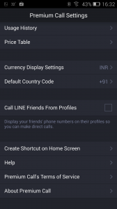 Line Messenger Settings
