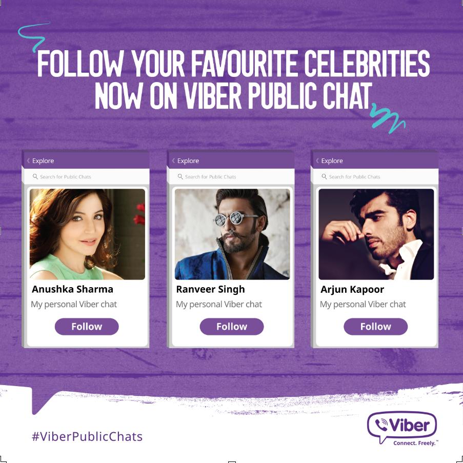 Celebrities on Viber