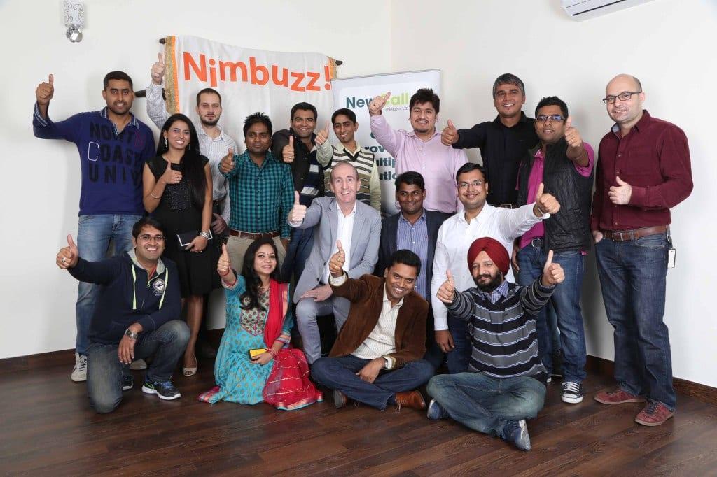 Nimbuzz_Holaa team with Nigel Eastwood and Vikas Saxena