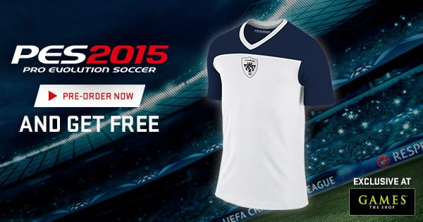 Games The Shop: #Gamers who order PES 2015 will get an official PES 2015 jersey