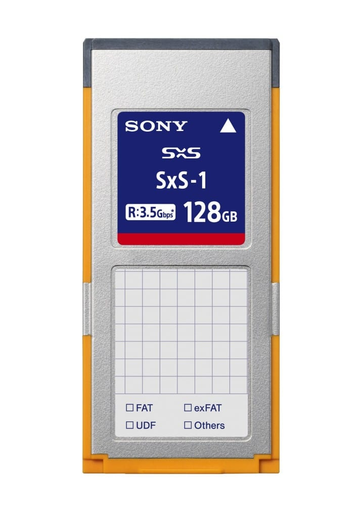 sony launches new sxs pro  sxs1 memory cards  the
