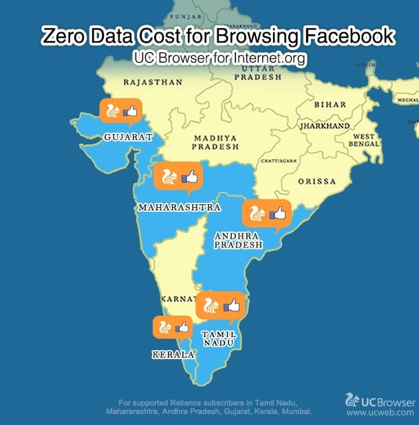Zero Data Cost for Browsing Facebook