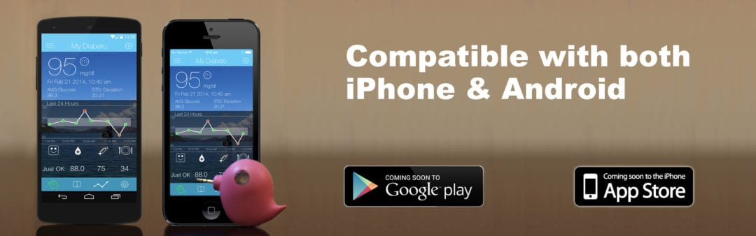 Diabeto compatible with iPhone and Android