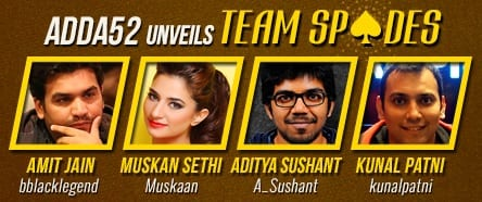 Adda 52 launches Team Spades, India's first ever professional Poker team