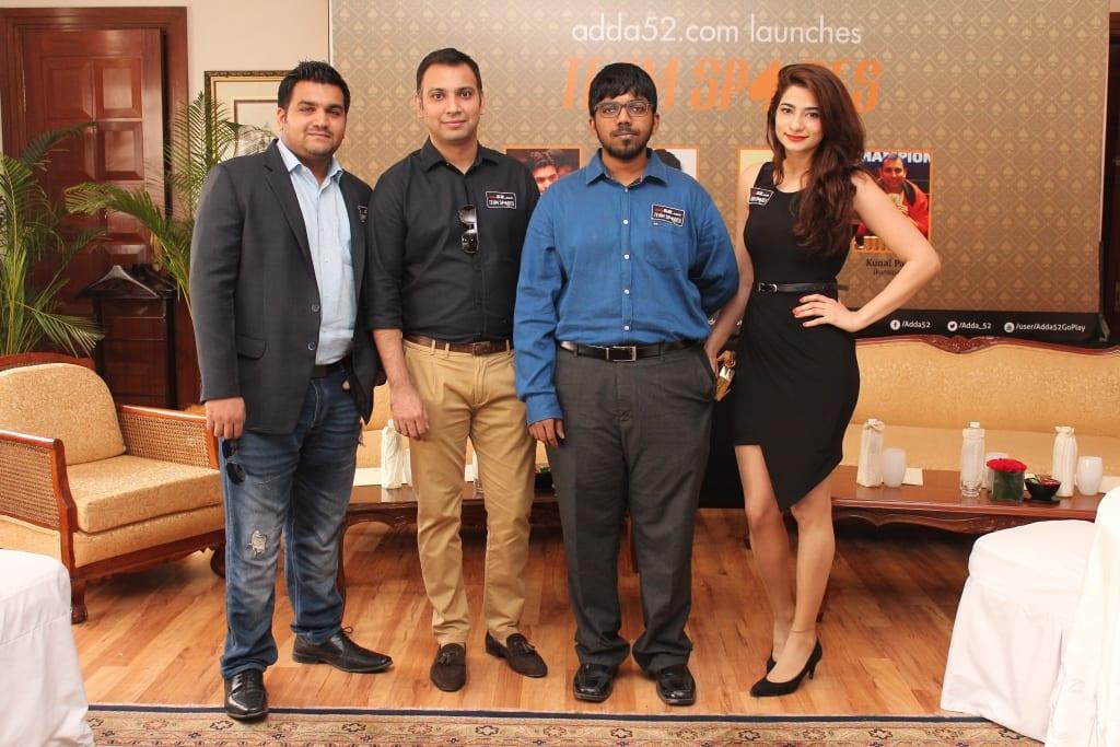 Adda 52 Team Spades - From left to right - Amit Jain, Kunal Patni, Aditya Sushant and Muskan Sethi