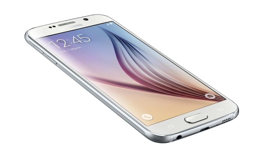 Galaxy S6_Left Front_Dynamic_White Pearl