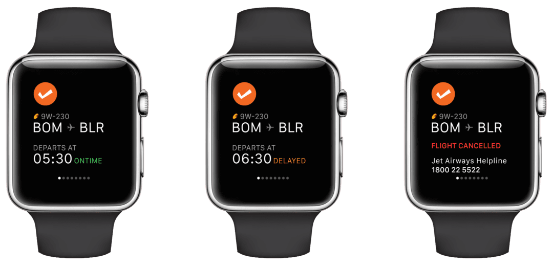 Cleartrip App Apple Watch