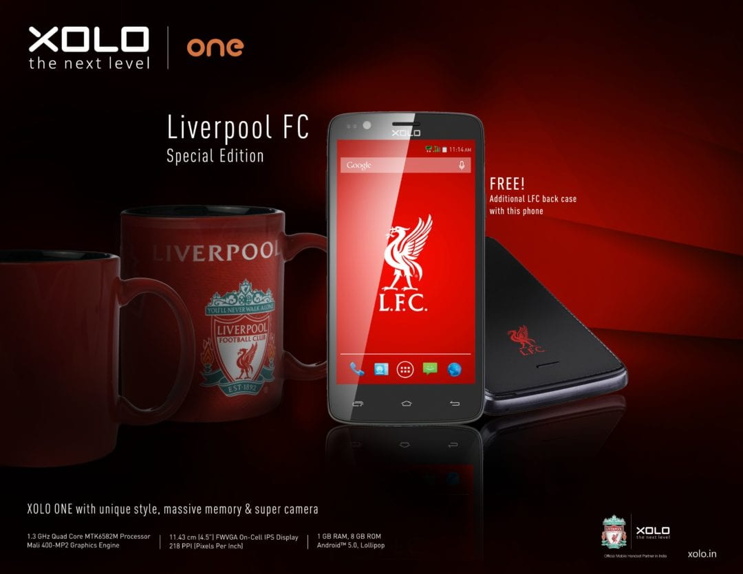 XOLO announces Liverpool FC Limited Edition Smartphone
