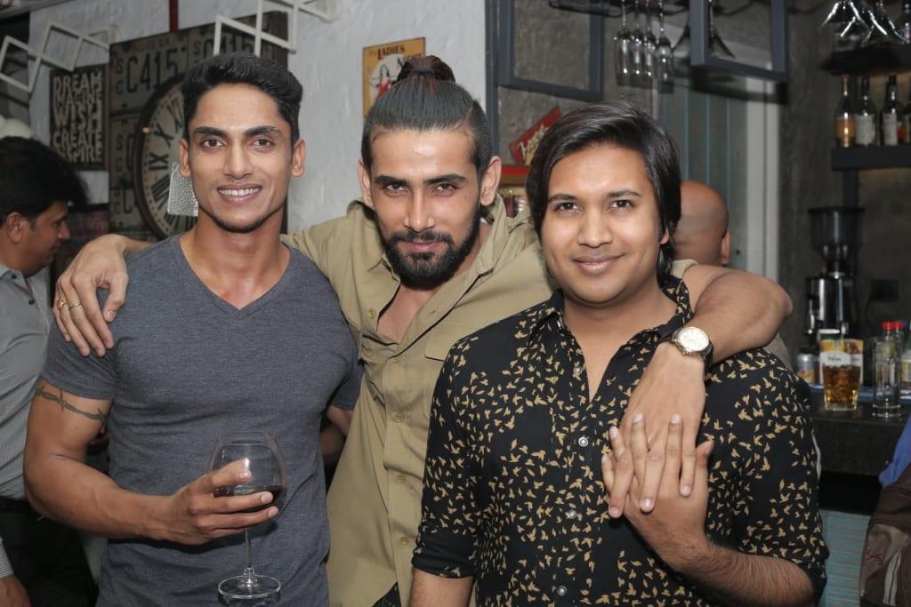 Models Siddharth Sharma,  Puneet Dehran & Anirudh Birla of AM-PM