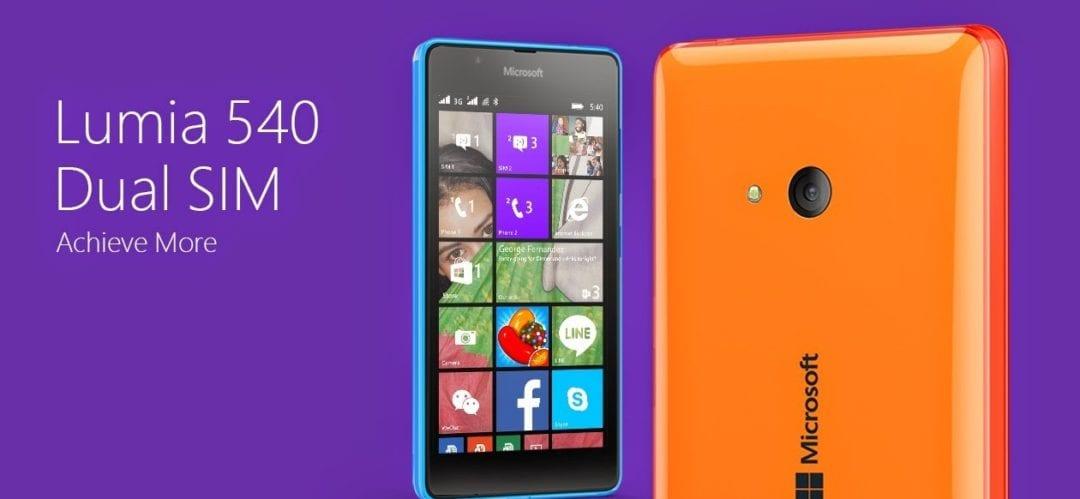 Lumia 540 price