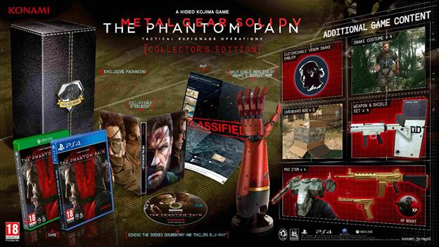Metal Gear Solid V: The Phantom Pain is scheduled to release on 1st September, 2015 for PlayStation 4, PlayStation 3, Xbox One and Xbox 360.   Pre-order now - http://www.gamestheshop.com/Metal-Gear-Solid-V-The-Phantom-Pain-Collector-s-Edition-for-PS4/333#33