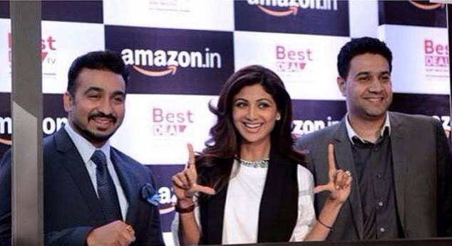 Best Deal Founders Raj Kundra and Shilpa Shetty at the first ever TV commerce and E commerce partnership.