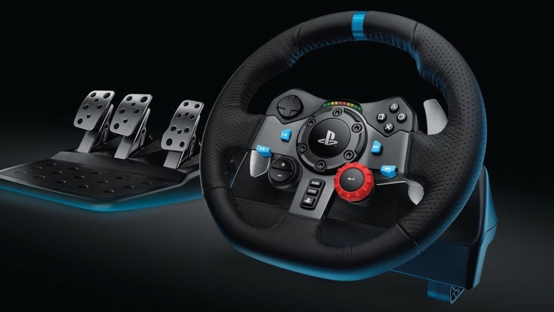 Logitech G29 Driving Force Features Hand-Stitched Leather, Dual-Motor Force Feedback and All-Steel Pedals With Clutch