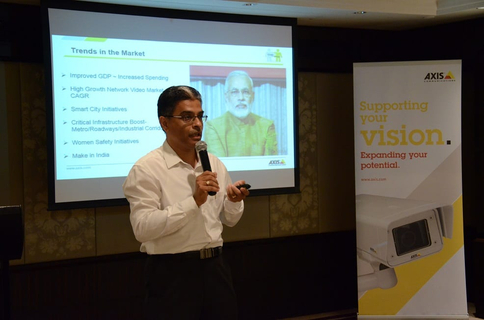 Sudhindra Holla, Country Manager, Axis Communications India SAARC