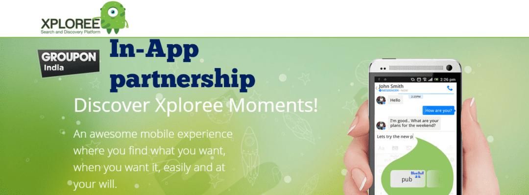 groupon xploree partners app discovery