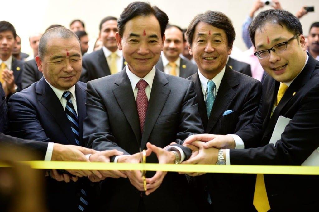 From L to R - Nobuyoshi Gokyu (Sr. VP, GM, Imaging Business, Nikon Corp), Kazuo Ushida (Respresentative Director, Nikon Corp), Yasuyuki Okamoto (Sr. VP, Director, Nikon Corp), Kazuo Ninomiya (MD, Nikon India)