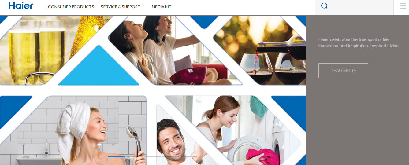Haier India Website
