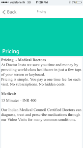 Doctor Insta pricing
