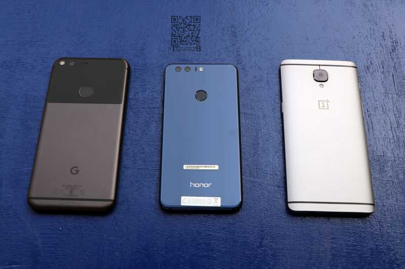 Google Pixel XL vs Honor 8 vs OnePlus 3T