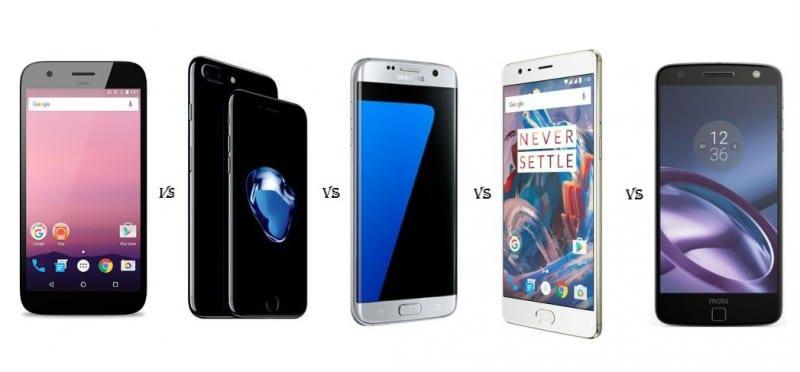 Google-Pixel-Vs-Pixel-XL-Vs-Apple-iPhone-7-Plus-Vs-Samsung-S7-Edge-Vs-OnePlus-3-Vs-Moto-z