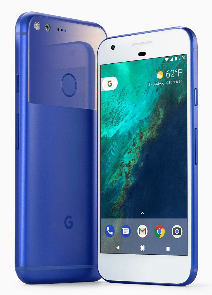 Very Blue Google Pixel