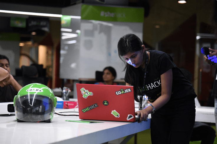 GO-JEK hosts exclusive hackathons for women technologists known as 'She-Hack'.