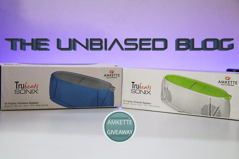 Amkette Trubeats SONIX Wireless Speakers Giveaway