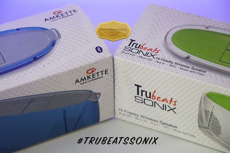 Amkette Trubeats SONIX Wireless Speakers Giveaway