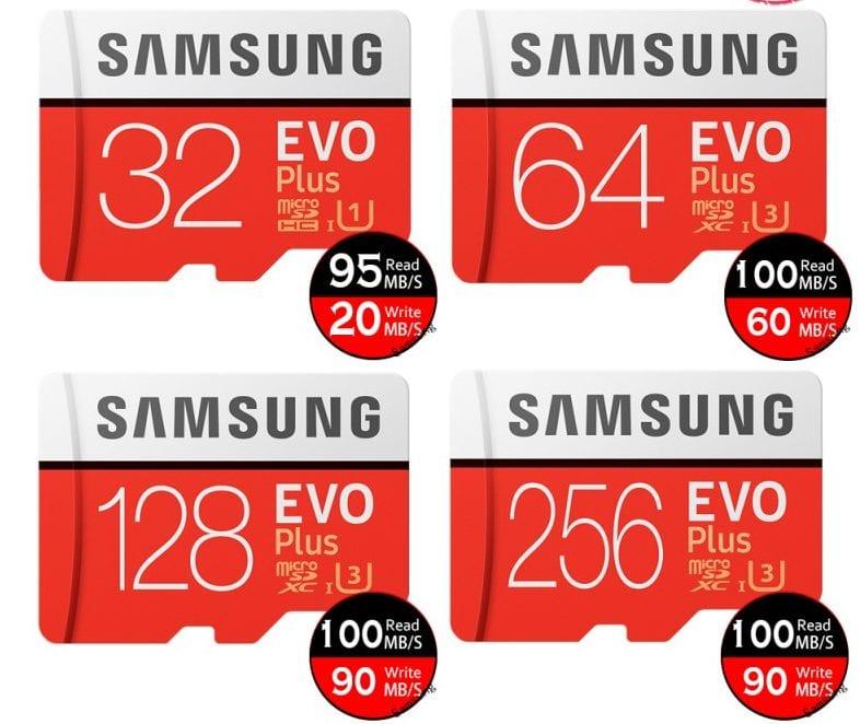 Samsung EVO Plus microSD Memory Benchmark Test