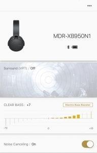 Sony MDR-XB950B1 Extra Bass Headphones App