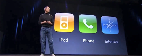 These are not three separate devices, this is one device, and we are calling it iPhone
