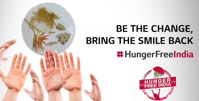 LG ROLLS OUT THE ''HUNGER FREE INDIA'' CAMPAIGN