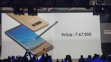 Samsung Galaxy Note 8 with dual rear cameras launched in India for INR 67,900