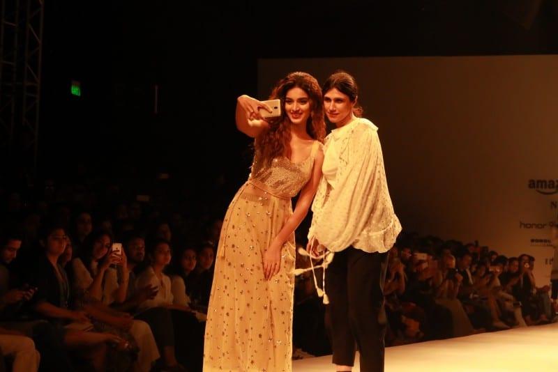 Nidhhi Agerwal and Rina Dhaka at Honor Show, AIFW