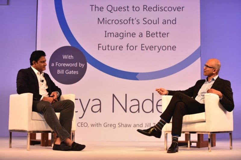"Microsoft CEO, Satya Nadella shares his ""Hit Refresh"" moments with Anil Kumble"