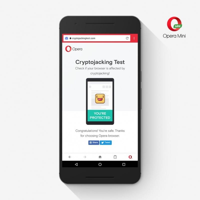 Opera Browser adds bitcoin mining protection for smartphones