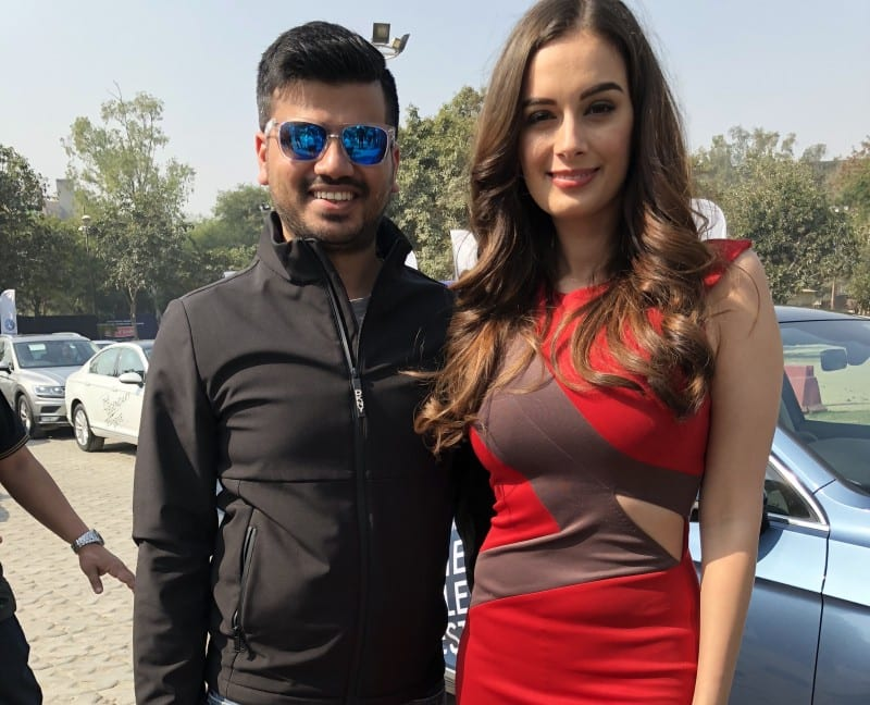 Driving the Volkswagen Passat at the legendary test drive with Evelyn Sharma
