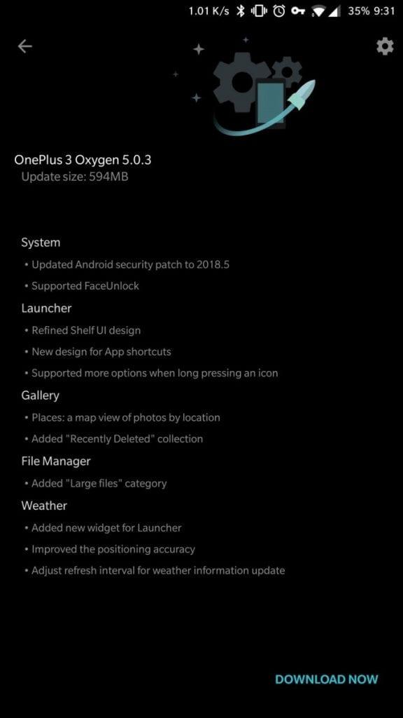 Oxygen OS 5.0.3