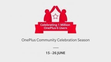 OnePlus has sold over 1 Million units of OnePlus 6 in 22 days