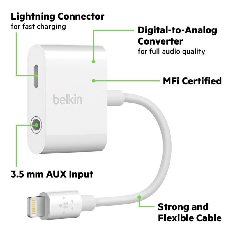 Belkin launches 3.5 mm Audio + Charge RockStar for iPhone 8, iPhone 8 Plus & iPhone X