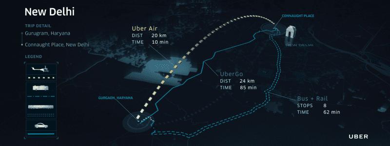 Uber Air Delhi Route