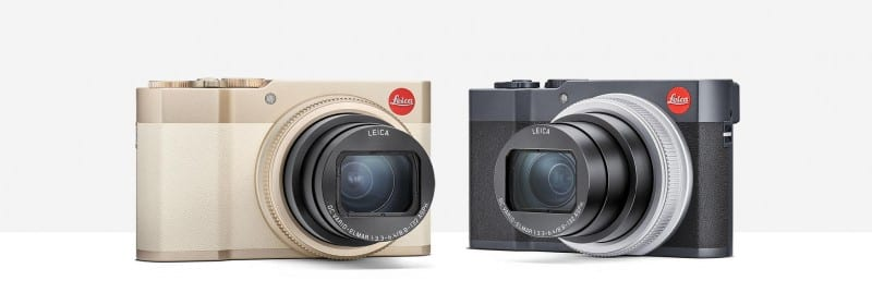 Leica C-Lux in light-gold and midnight-blue variants